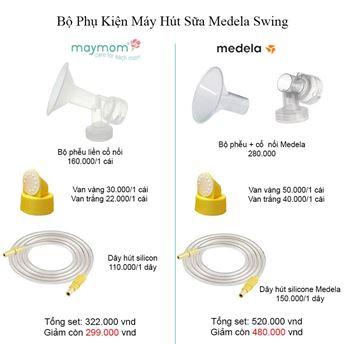 Hình ảnh củaBộ phụ kiện cho máy medela swing đơn