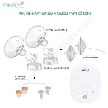 Hình ảnh củaPhụ Kiện Máy Hút Sữa Maymom Myfit Cổ Rộng Tương Thích Máy Hút Sữa Avent